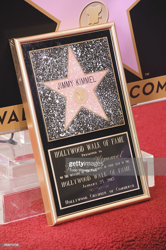 LIVE - Hollywood Chamber of Commerce honored Jimmy Kimmel with a star on the Hollywood Walk of Fame today, Friday, January 25, at 11:30 a.m. at 6840 Hollywood Boulevard in front of the El Capitan Entertainment Centre where his show resides. STAR