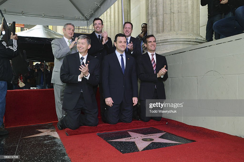LIVE - Hollywood Chamber of Commerce honored Jimmy Kimmel with a star on the Hollywood Walk of Fame today, Friday, January 25, at 11:30 a.m. at 6840 Hollywood Boulevard in front of the El Capitan Entertainment Centre where his show resides. GARCETTI