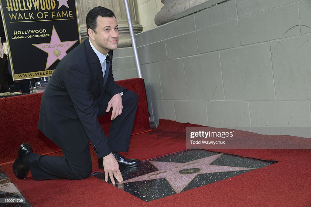 LIVE - Hollywood Chamber of Commerce honored Jimmy Kimmel with a star on the Hollywood Walk of Fame today, Friday, January 25, at 11:30 a.m. at 6840 Hollywood Boulevard in front of the El Capitan Entertainment Centre where his show resides. KIMMEL