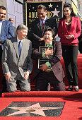Hollywood Chamber of Commerce President CEO Leron Gubler Los Angeles Councilmember Gil Cedillo singer Graciela Beltran and radio personality Renan...