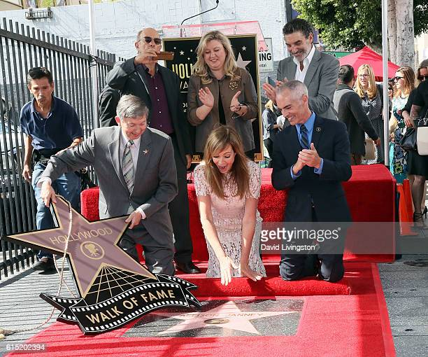 Hollywood Chamber of Commerce President/CEO Leron Gubler actor Richard Schiff Hollywood Chamber of Commerce Chair of the Board Fariba Kalantari...