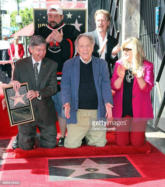 Hollywood Chamber of Commerce President/CEO Leron Gubler filmmaker Kevin Smith actors George Segal and David Spade and Hollywood Chamber of Commerce...