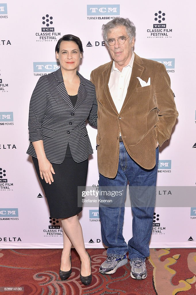 Hollywood Editor of New York Magazine & Vulture Stacey Wilson Hunt (L) and actor Elliott Gould attend 'M*A*S*H' screening during day 4 of the TCM Classic Film Festival 2016 on May 1, 2016 in Los Angeles, California. 25826_005