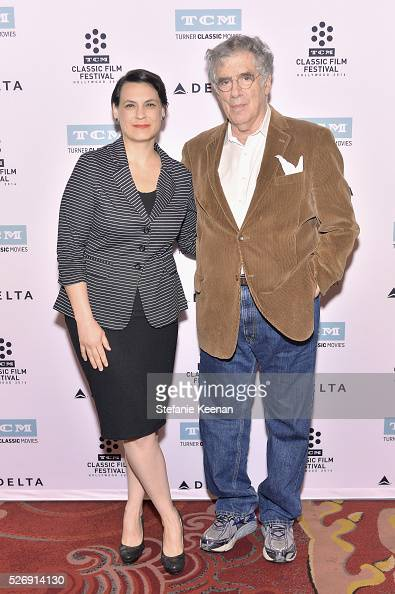 Hollywood Editor of New York Magazine Vulture Stacey Wilson Hunt and actor Elliott Gould attend 'M*A*S*H' screening during day 4 of the TCM Classic...