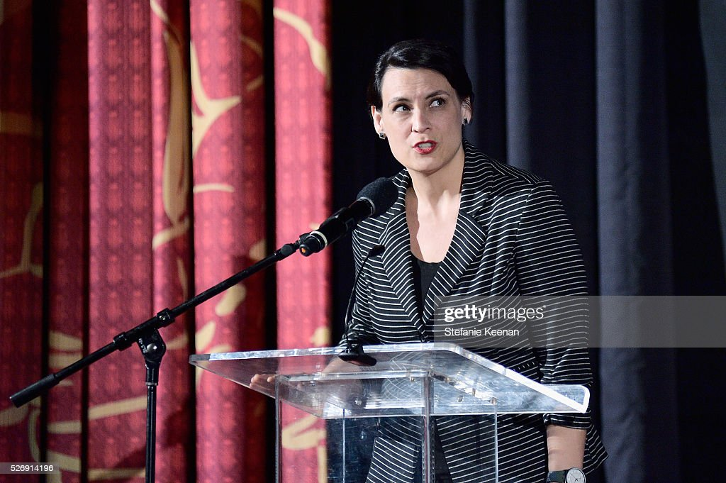 Hollywood Editor of New York Magazine & Vulture Stacey Wilson Hunt speaks onstage at 'M*A*S*H' screening during day 4 of the TCM Classic Film Festival 2016 on May 1, 2016 in Los Angeles, California. 25826_005