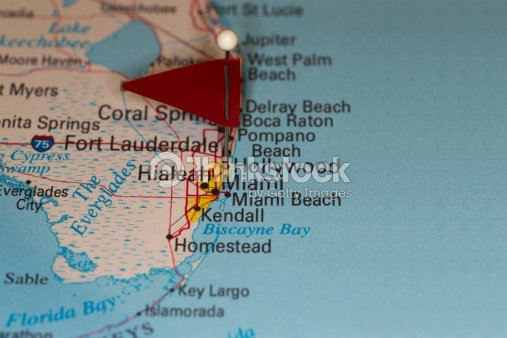 Largo Fl Elevation Map.Hollywood Fl Usa Cities On Map Series Stock Photo Thinkstock