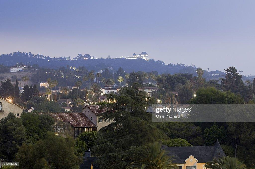 Hollywood Hills at Dusk