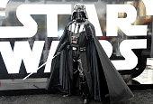 Hollywood Prepares For The Premiere Of Walt Disney Pictures And Lucasfilm's 'Star Wars The Force Awakens' Darth Vader on the 2nd Day of Target's...