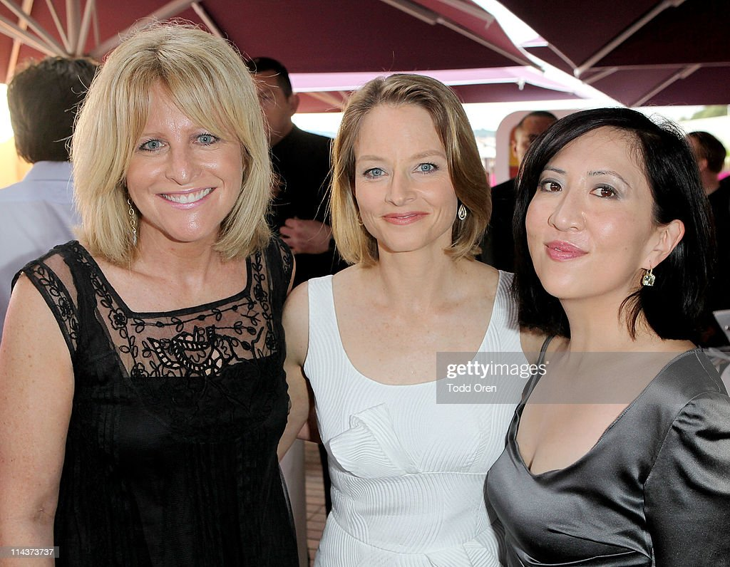 Hollywood Reporter Publisher <a gi-track='captionPersonalityLinkClicked' href=/galleries/search?phrase=Lori+Burgess&family=editorial&specificpeople=2078343 ng-click='$event.stopPropagation()'>Lori Burgess</a>, actress <a gi-track='captionPersonalityLinkClicked' href=/galleries/search?phrase=Jodie+Foster&family=editorial&specificpeople=204488 ng-click='$event.stopPropagation()'>Jodie Foster</a> and writer <a gi-track='captionPersonalityLinkClicked' href=/galleries/search?phrase=Janice+Min&family=editorial&specificpeople=217761 ng-click='$event.stopPropagation()'>Janice Min</a> attend the Hollywood Reporter honors Jodi Foster for 'The Beaver' hosted by vitaminwater at Z Plage vitaminwater on May 18, 2011 in Cannes, France.