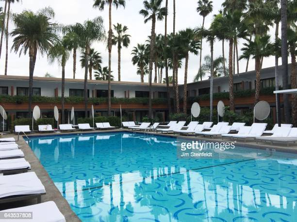 Hollywood Roosevelt swimming pool in Los Angeles California on January 15 2017