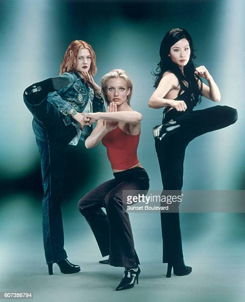 Hollywood screen goddess Drew Barrymore Lucy Liu and Cameron Diaz star in the 2000 movie 'Charlie's Angels' directed by McG