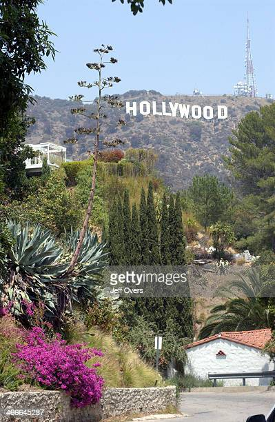 Hollywood sign in the Hollywood Hills California USA