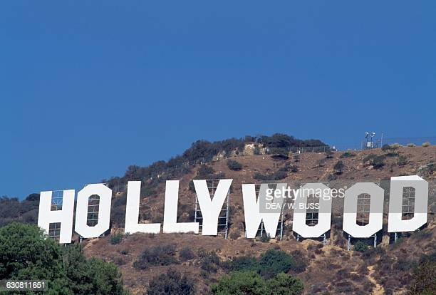Hollywood Sign the landmark that overlooks Hollywood Los Angeles California United States of America