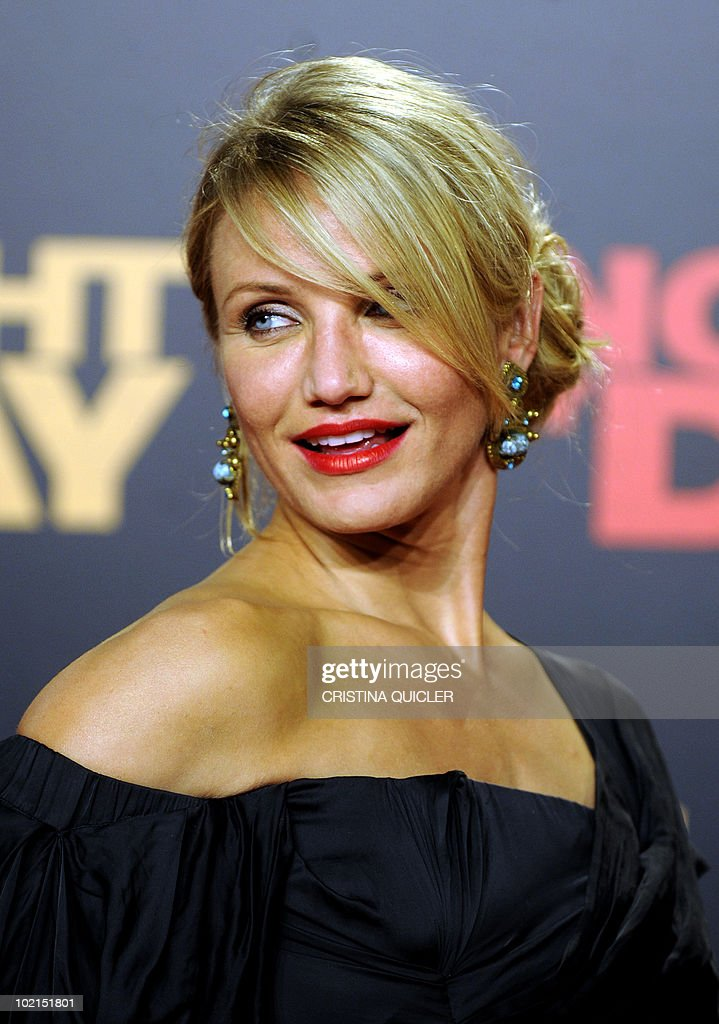 Hollywood star Cameron Diaz poses on the red carpet as she arrives for the international film premiere of her new film 'Knight and Day' by US director James Mangold in Sevilla on June 16, 2010. Diaz, 37, filmed key scenes of the action-comedy movie in Seville as well as in the nearby coastal city of Cadiz last year.