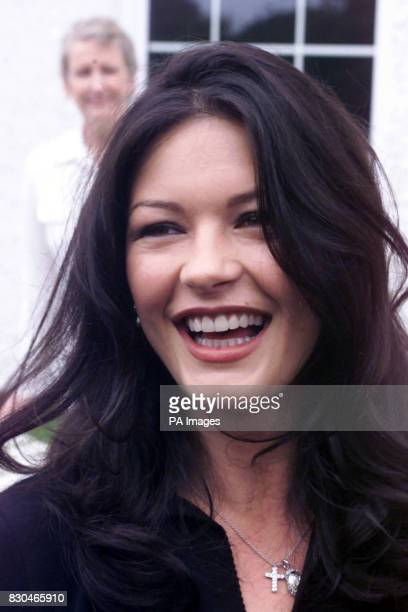 Hollywood star Catherine Zeta Jones leaves Longfields Day Centre in Mumbles Swansea after visiting the special needs centre with her father Dai *The...