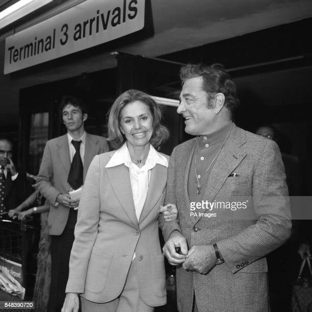 Hollywood star Cyd Charisse who appeared in films such as 'Singing in the Rain' and 'Silk Stockings' arrives at Heathrow Airport London from New York...