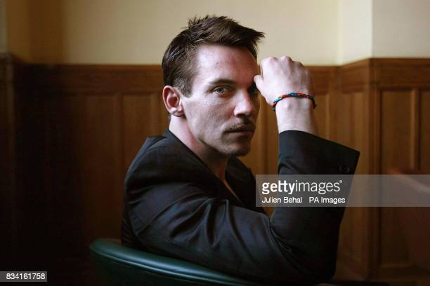 Hollywood star Jonathan RhysMeyers wearing the charity's wristband in the Clarence Hotel Dublin as he revealed his plans to champion the rights of...