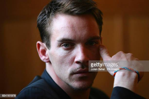 Hollywood star Jonathan RhysMeyers wearing the charity's wristband n the Clarence Hotel Dublin as he revealed his plans to champion the rights of...