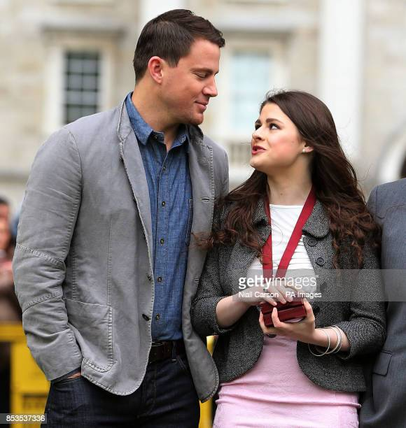 Hollywood Stars Channing Tatum receives Bram Stoker medals from The Phil Society of Trinity College while in Ireland promoting their new movie 22...