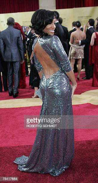 Actress Anika Noni Rose arrives at the 79th Academy Awards in Hollywood California 25 February 2007 AFP PHOTO Roberto SCHMIDT