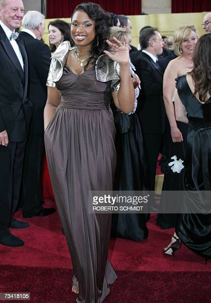 Actress Jennifer Hudson arrives at the 79th Academy Awards in Hollywood California 25 February 2007 AFP PHOTO/Roberto SCHMIDT