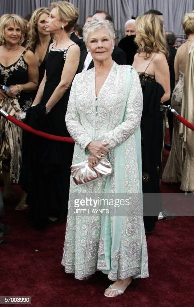 Actress Judi Dench arrives 05 March for the 78th Academy Awards to be presented at the Kodak Theater in Hollywood California Dench is nominated for...