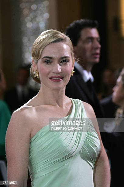 British actress Kate Winslet arrives at the 79th Academy Awards in Hollywood California 25 February 2007 AFP PHOTO/Roberto SCHMIDT