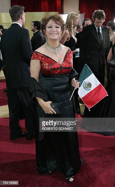 Mexican actress Adriana Barraza arrives at the 79th Academy Awards in Hollywood California 25 February 2007 AFP PHOTO/Roberto SCHMIDT