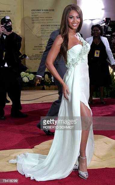 Singer Beyonce arrives at the 79th Academy Awards in Hollywood California 25 February 2007 AFP PHOTO/Roberto SCHMIDT
