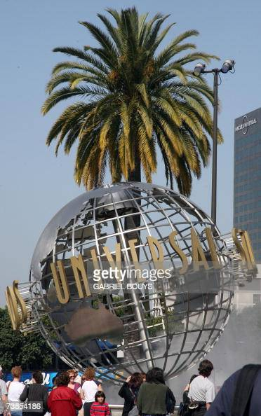 The entrance of Universal Studios in Hollywood is pictured 09 April 2007 Universal Studios Hollywood is the original Universal Studios theme park...