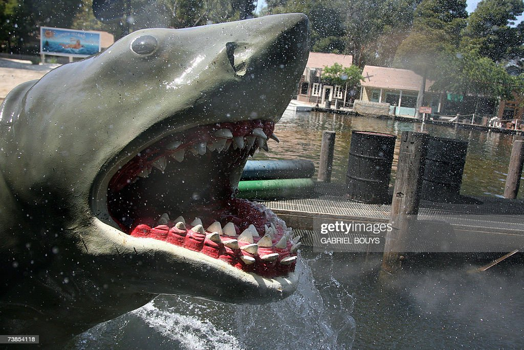 The set of the Steven Spielberg film 'Jaws' is pictured at Universal Studios in Hollywood 09 April 2007 Universal Studios Hollywood is the original...