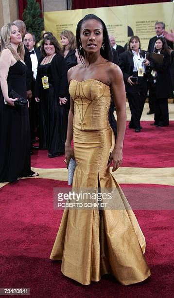 Will Smith's wife Jada Pinkett Smith arrives at the 79th Academy Awards in Hollywood California 25 February 2007 AFP PHOTO/Roberto SCHMIDT
