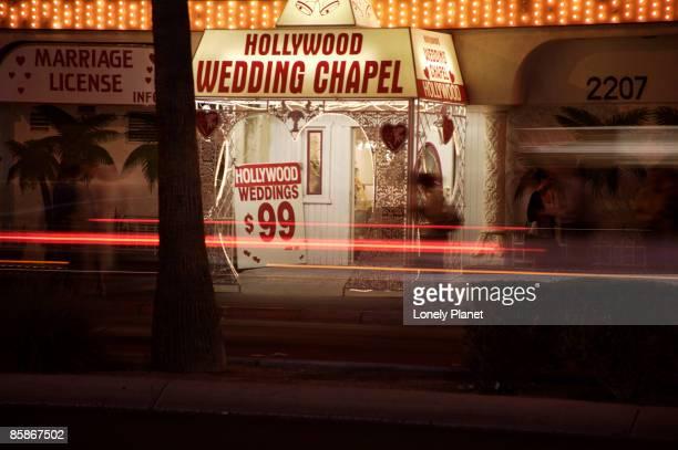 Hollywood Wedding Chapel sign.