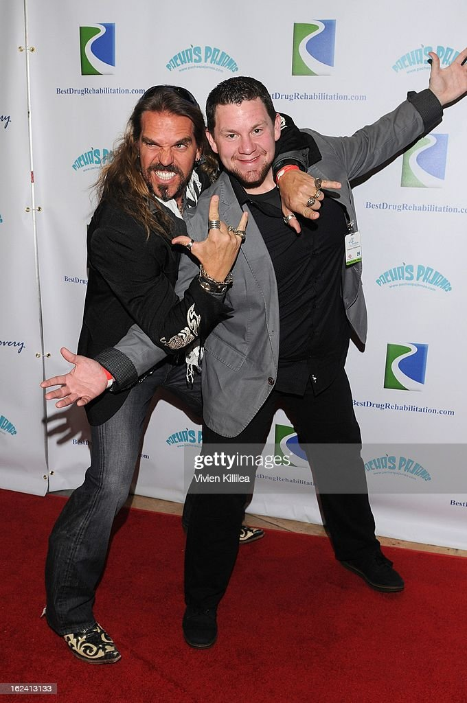 Hollywood Yates and Big Vinny attend 'Imagination Heals' Children's Art Launch at The Beverly Hilton Hotel on February 22, 2013 in Beverly Hills, California.