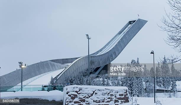 Holmenkollen Ski Jump Hill, Oslo, Norway.