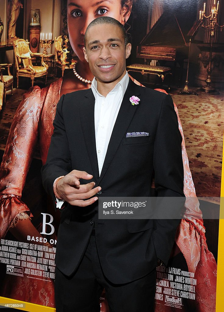 T.J. Holmes attends the 'Belle' premiere at The Paris Theatre on April 28, 2014 in New York City.