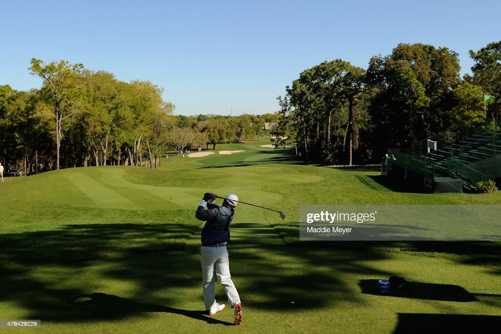 B Holmes hits a tee shot on the first hole during the first round of the Valspar Championsihp at Innisbrook Resort and Golf Club on March 13 2014 in...