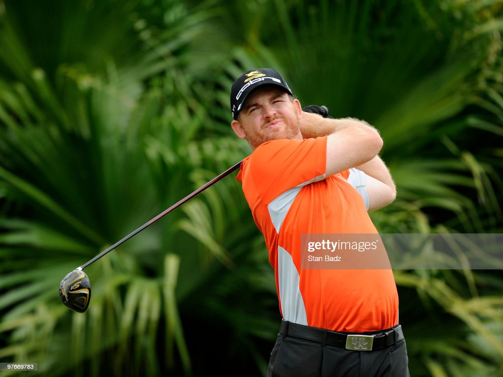 B Holmes hits from the eighth tee box during the second round of the World Golf ChampionshipsCA Championship at Doral Golf Resort and Spa on March 12...