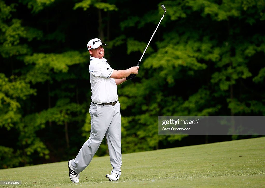 J.B. Holmes plays a shot on the 15th hole during the first round of the Memorial Tournament presented by Nationwide Insurance at Muirfield Village Golf Club on May 29, 2014 in Dublin, Ohio.