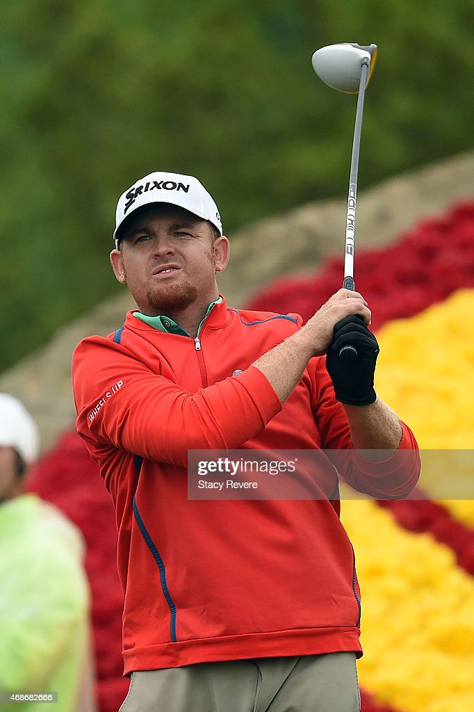 B Holmes watches his tee shot on the eighteenth hole during the final round of the Shell Houston Open at the Golf Club of Houston on April 5 2015 in...