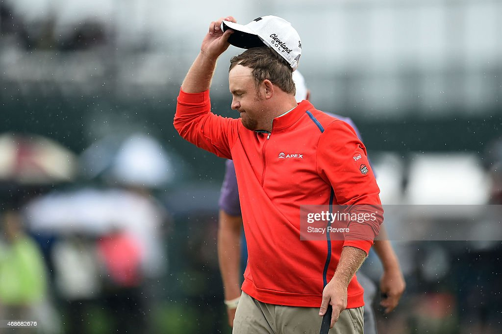 B Holmes waves to the crowd following an eightunder par 64 in the final round of the Shell Houston Open at the Golf Club of Houston on April 5 2015...