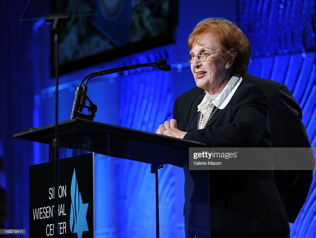 Holocaust survivor Elisabeth Mann attends the Simon Wiesenthal Center's Annual National Tribute Dinner Honoring Jerry Bruckheimer at The Beverly Hilton Hotel on May 23, 2012 in Beverly Hills, California.
