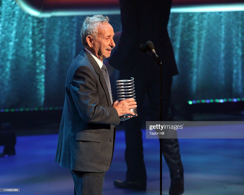 Holocaust survivor Tibor Sands accepts an award on behalf of Blue State Digital for its 'Remember Me' project at the 16th Annual Webby Awards at Hammerstein Ballroom on May 21, 2012 in New York City.
