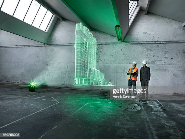 Hologram in warehouse