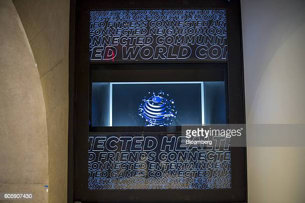 A hologram is displayed inside the new ATT Inc flagship store in San Francisco California US on Thursday Sept 15 2016 The store will officially open...