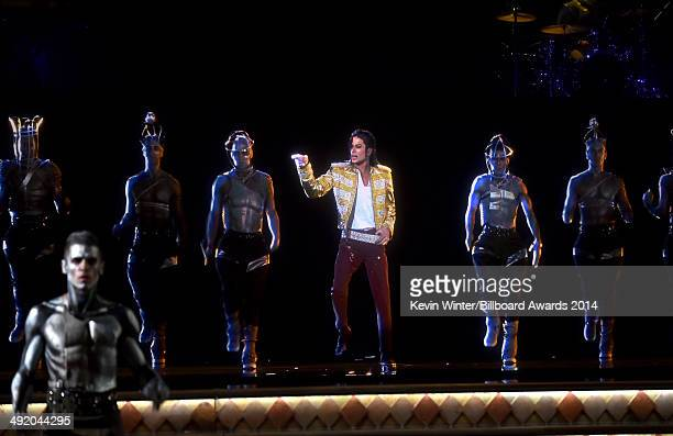 A holographic image of Michael Jackson performs onstage during the 2014 Billboard Music Awards at the MGM Grand Garden Arena on May 18 2014 in Las...