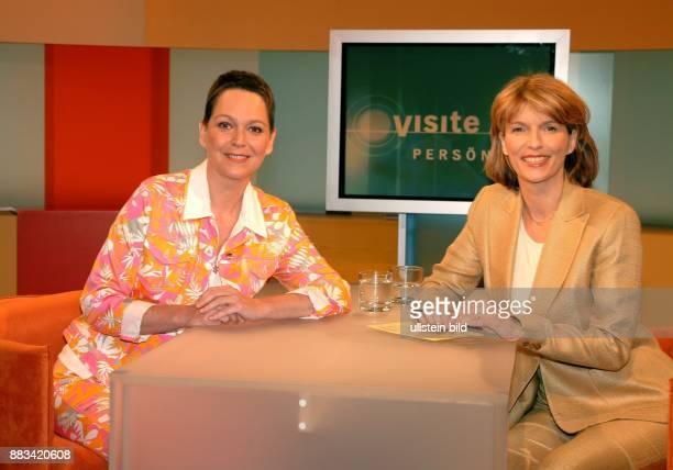 Holst Susanne Medizinerin Moderatorin D mit Ramona Leiß in der Sendung 'Visite persönlich'