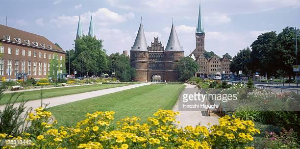 Holstein Gate (Holstentor), Lubeck, Schleswig-Holstein, Germany