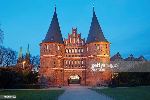 Holsten Gate, City gate of Lubeck