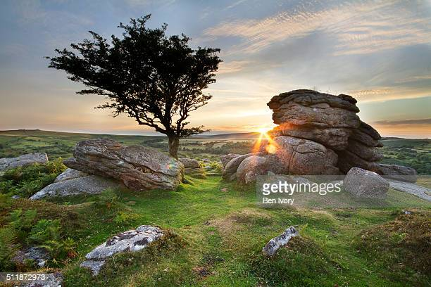 Holwell Tor and sunset